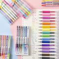 36 farben Morandi Saft Presse Gel Stift Retro metall Shinning Unterschrift Stift Escolar Papelaria Schule Bürobedarf Werbe Geschenk
