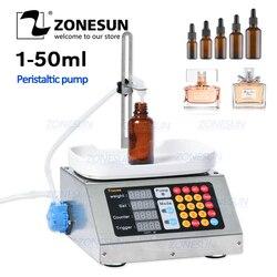 ZONESUN 0-50 مللي ماكينة حشو سائل آلية صغيرة 110 فولت-220 فولت ماكينة حشو سائل فموي