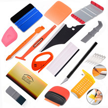 FOSHIO Carbon Fiber Film Vinyl Wrapping Car Accessories Kit Window Tint Sticker Cutter PPF Scraper Squeegee Auto Repair Tools