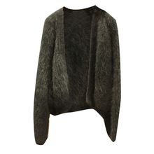 Autumn Sweater New Style Women Wear Retro Mink-like Wool with Long Sleeves Knitted Cardigan 2019