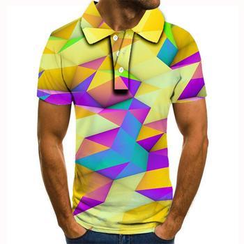 2020 nowa koszulka polo mężczyźni mężczyźni odzież koszulka polo mężczyźni letnia męska koszulka Polo z krótkim rękawem koszula wysokiej jakości mężczyźni drukowane koszulka Polo tanie i dobre opinie krótkie REGULAR Na co dzień guzik Drukuj POLIESTER oddychająca Stałe
