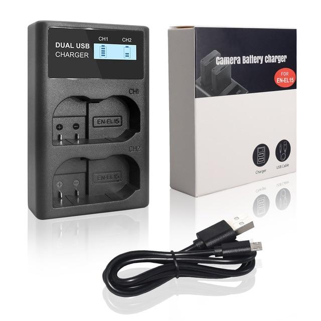 PALO EN EL15 EN EL15a ENEL15 Camera Battery Charger For Nikon  D600 D610 D800 D800E D810 D7000 camera