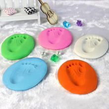 Soft-Clay Modeling Casting-Hand-Ink Imprint Baby for DIY Care Air-Drying-Kit Pad
