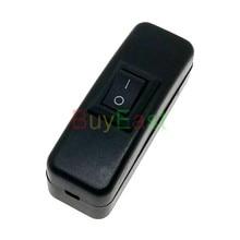 (Упаковка 5) Встроенный шнур вкл/выкл, переключатель кабеля «сделай сам», кнопочный переключатель вкл/выкл, переменный ток 125, 6 А, переменный ...