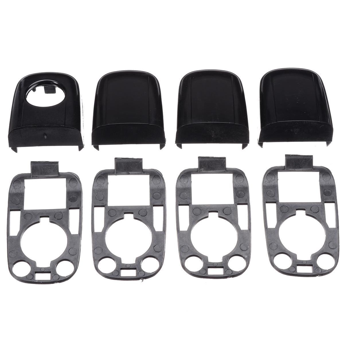 8 Stks/set Links Rechts Auto Deurgreep Cover End Cap Beschermende Lock Cover Accessoires Voor Peugeot 307/Citroen C2 c3
