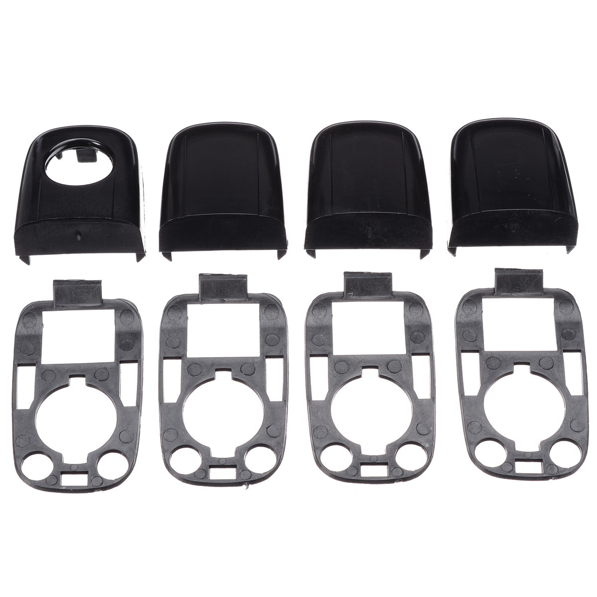 8pcs/set Left Right Car <font><b>Door</b></font> <font><b>Handle</b></font> Cover End Cap Protective Lock Cover Accessories For <font><b>Peugeot</b></font> 307/Citroen C2 C3 image