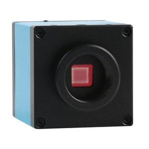 Image 5 - حامل منضدة من الألومنيوم بكاميرا ميكروسكوب للفيديو 20 ميجابكسل HDMI USB 3.5X 90X مجهر ستريو ثلاثي العينيات