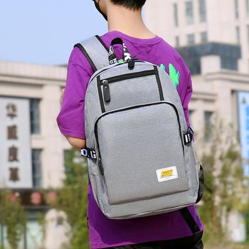 Teen Boys School Bags Gray Oxford Large Capacity College High School Backpack Men Laptop Bookbags Teenage Schoolbag Student Big oxford cloth waterproof unisex large capacity student backpack simple casual backpack college style gray