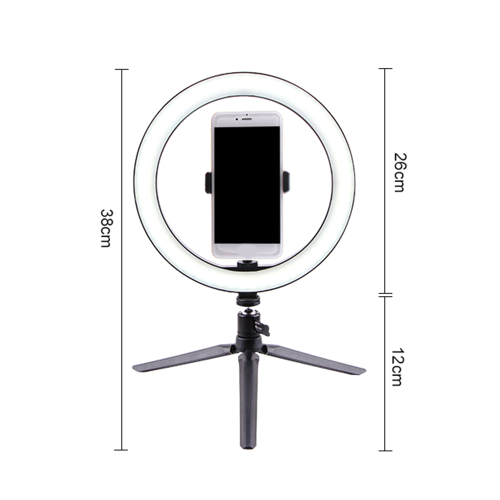 cheapest smart Phone Photography Video Makeup Lamp youtube USB Interface Dimmable LED Selfie Round studio ring camera Light photo Phone