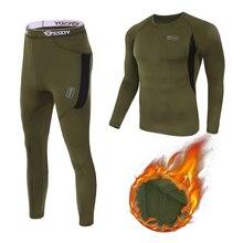 Thermal-Underwear Tactical Men Legging Sweat-Compression Long-Johns Fitness Fleece Warm