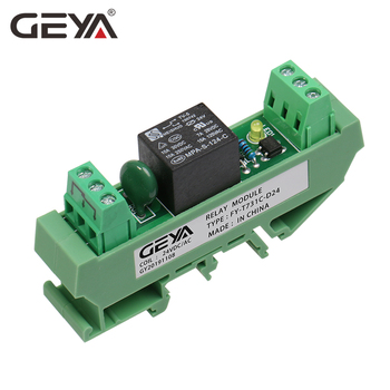 GEYA Din Rail Mounted 1 Channel Relay Module  24V 12V 230VAC  GSM Relay Control Timer Module 12v 24v relay harness control cable for h4 hi lo hid bulbs wiring controller