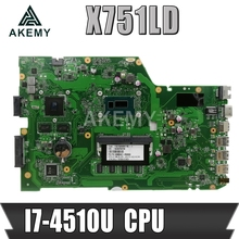 Laptop Motherboard Graphic-Card Mainboard I7-4500u-Cpu GT820M ASUS for X751ln/X751lj/K751l/X751ld