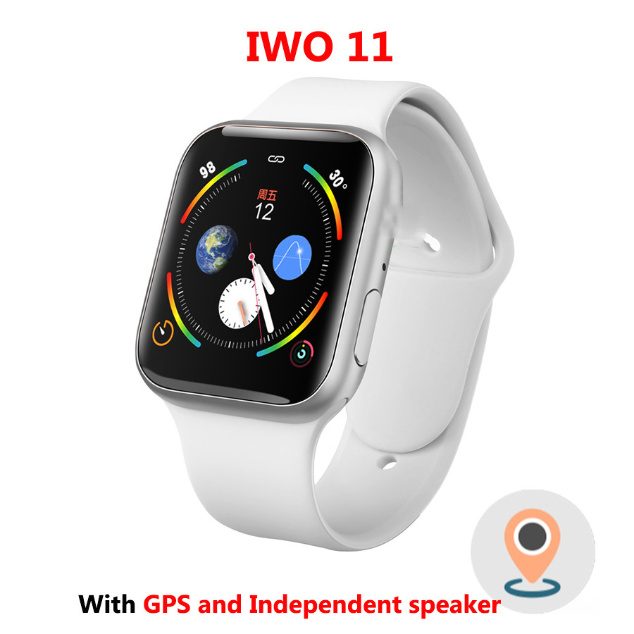 IWO 11 GPS Bluetooth <font><b>Smart</b></font> Uhr 1:1 SmartWatch 44mm Fall für Apple iOS Android Herz Rate Blutdruck IWO 10 update image