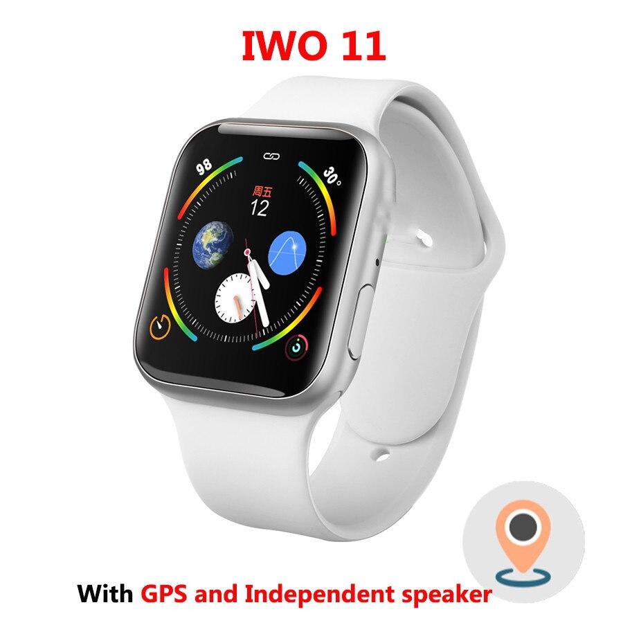 IWO 11 GPS Bluetooth montre intelligente 1:1 SmartWatch 44mm étui pour Apple iOS Android fréquence cardiaque pression artérielle IWO 10 mise à jour