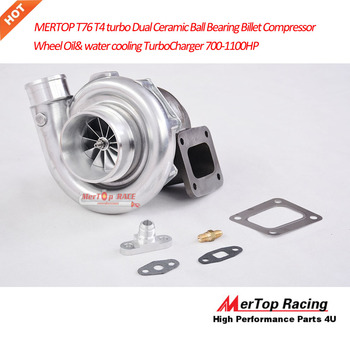 MTP RACING T76 T76R T4 turbo  Dual Ceramic  Ball Bearing Billet Compressor Wheel  Oil& water cooling TurboCharger 700-1100HP