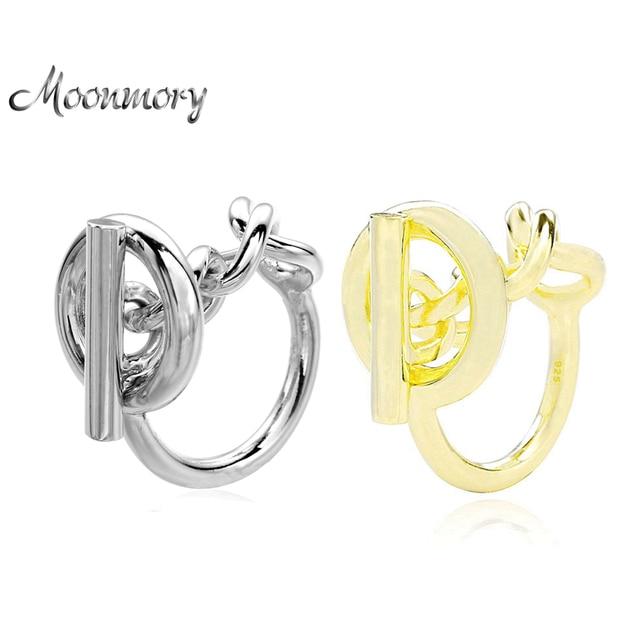 Moonmory 925 Sterling Silber Seil Kette Ring Mit Hoop Lock Für Frauen Französisch Beliebte Verschluss Ring Sterling Silber Schmuck Machen
