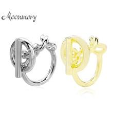 Moonmory — Anneau en argent sterling 925 avec chaîne en forme de corde, anneau de fermoir populaire en France, fabrication de bijoux