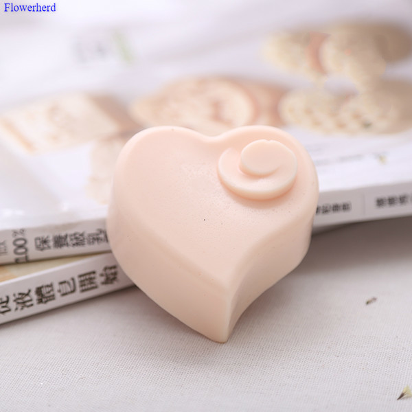 Food Grade Soft Silicone Love Handmade Soap Mould 6 Cavities Handmade Heart Soap Form Fondant Cake Chocolate Mold Cake Decors