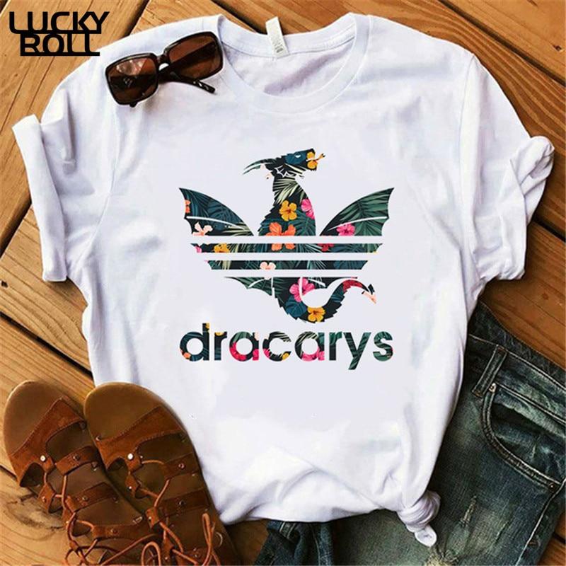 Dracarys T-Shirt Female Mother of Dragon Tops Tee Harajuku khaleesi Camisetas Daenery Dragon Got women summer Clothing(China)