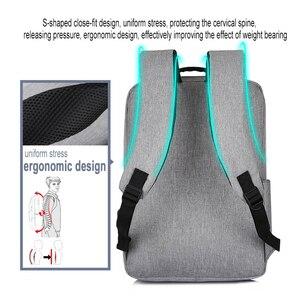 Image 4 - USB Backpack Mens School Bag Rucksack Anti Theft Men Backbag Travel Daypacks Male Leisure Backpack Mochila Women Girl Bag
