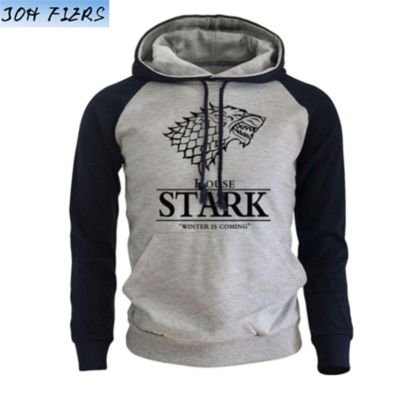 Funny Womens Hoodies-Winters Coming-House Starks sigil Game of thrones