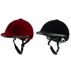 Equestrian Sports Breathable Velvet Horse Rider Helmet Men Women Performance Horse Riding Hat Safety Helmets Unisex