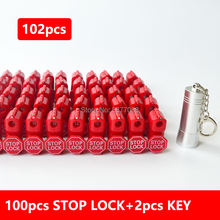 102 шт стопорный замок и съемник магнитных ключей для подвешивания