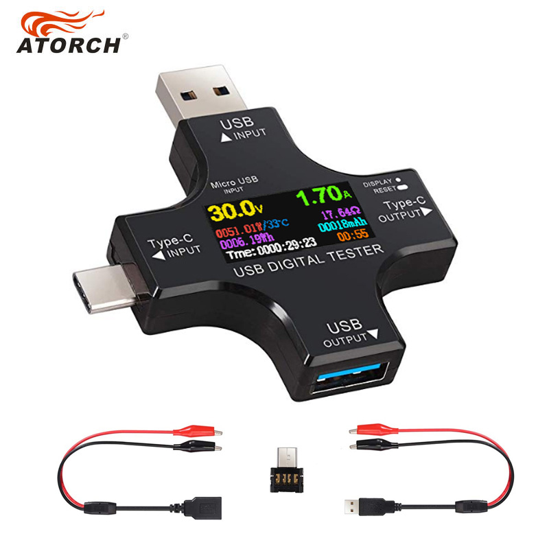 USB 3.0 Tester DC Crocodile Digital Voltmeter Amperimetor Voltage Current Meter Ammeter Detector Power Bank Charger Indicator