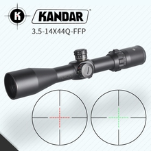 Hunting Riflescope 3.5-14X44 FFP Scope With Red Dot First Focal Plane Optics 11 or 20MM Rail Black Rifle