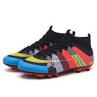 Mr. mutter Fußball Stiefel Original  Kinder Turnschuhe  Langen Nagel High top Fußball Schuhe  Futsal Boot  stollen Schuhe  Training Fußball Stiefel|Fußballschuhe|Sport und Unterhaltung -