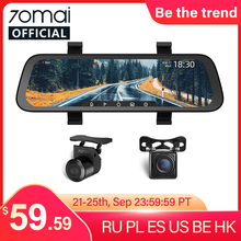 2020 New 9.35 Inch Full Screen 70mai Rearview Dash Cam Wide 1080P Auto Cam 130FOV 70mai Mirror Car Recorder Stream Media Car DVR(China)