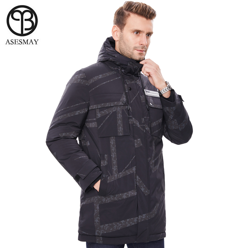 2019 Men Down Jacket Men's Winter Coats Parka Long Camouflage Goose Jacket Thickening Warm Hoodies Male Brand Clothing Outerwear
