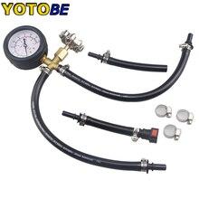 اتصال سريع مضخة حقن الوقود اختبار الضغط مقياس مع صمام 0 100PSI