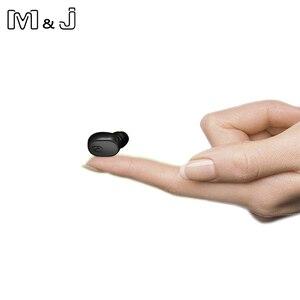 Image 1 - M & J Mini Zakelijke Draadloze Bluetooth Headset Portable Handsfree Oordopjes Sport Drive Oortelefoon Met Microfoon Voor Xiaomi Iphone