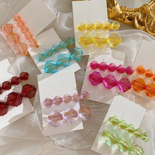 AOMU 1SET 2020 Summer Shiny Colorful Crystal Hairpins New Ge