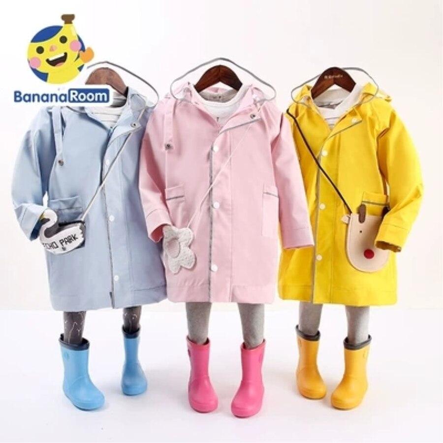Imperméable pour enfants bébé veste De pluie école primaire garçons et filles enfants manteau De pluie coupe-vent Capa De Chuva Infantil 60YY256