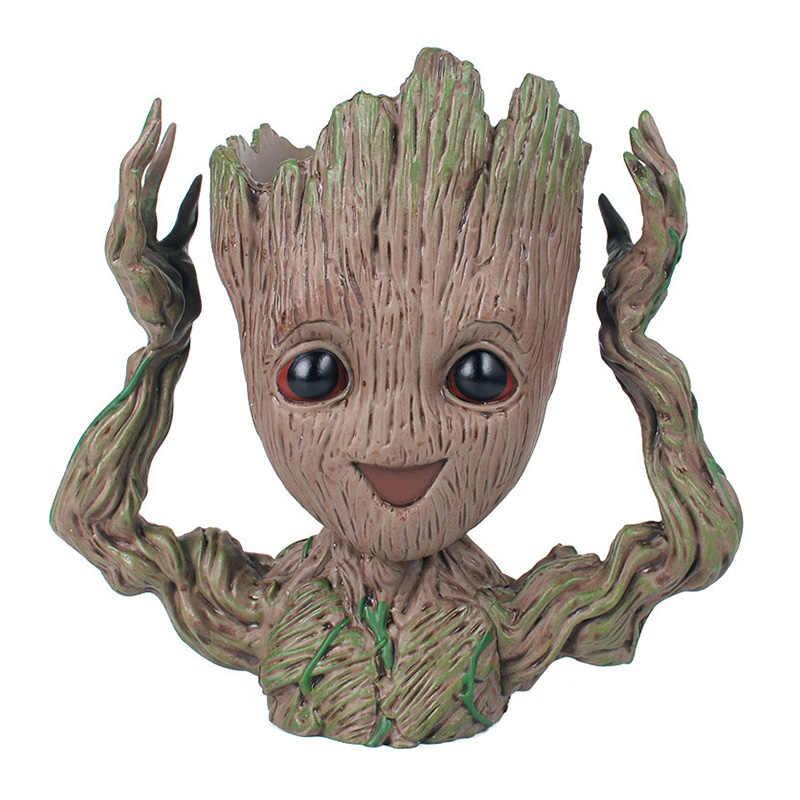 Groot maceta cho bé Groot Lọ Hoa Dụng Cụ Bào Cây Người Bút Nồi Nhân Vật Hành Động Đồ Chơi Groot Dụng cụ bào nồi Trò Chơi