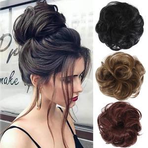 Curly Scrunchie Chignon Women Hair Bun Extension Wavy Curly Messy Wig Wedding Bride Elastic Hairpiece For Hair Bun Ponytails(China)