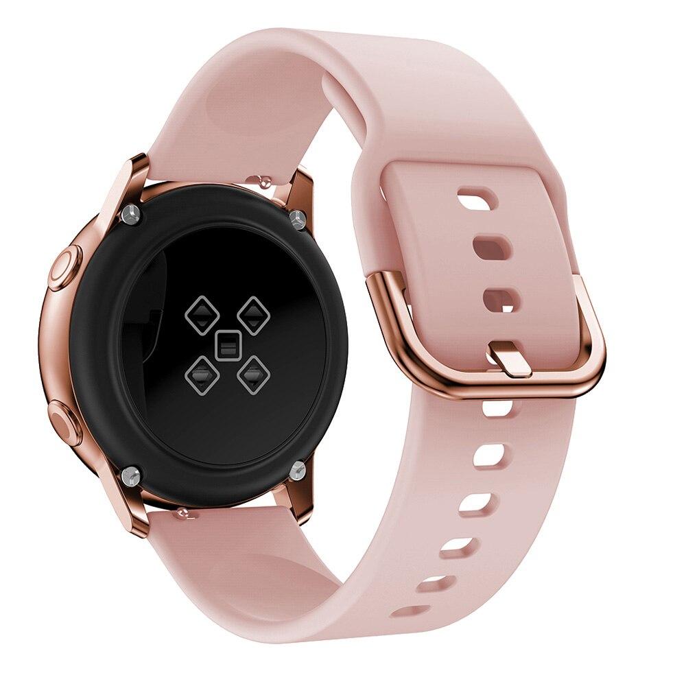 Ремешок для часов 20 мм для Samsung Galaxy watch Active 2/42 мм/3 41 мм/Gear S2/спортивный силиконовый браслет для смарт-часов Active 2 40 мм 44 мм