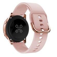 20mm pulseira de relógio para samsung galaxy relógio ativo 2/42mm/3 41mm/engrenagem s2/esporte silicone pulseira smartwatch banda active2 40mm 44mm