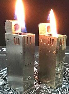 LSGGZS 2 цвета ручной работы 6,2*2,6 см TA2 титановый сплав 100 г латунь 180 г зажигалка