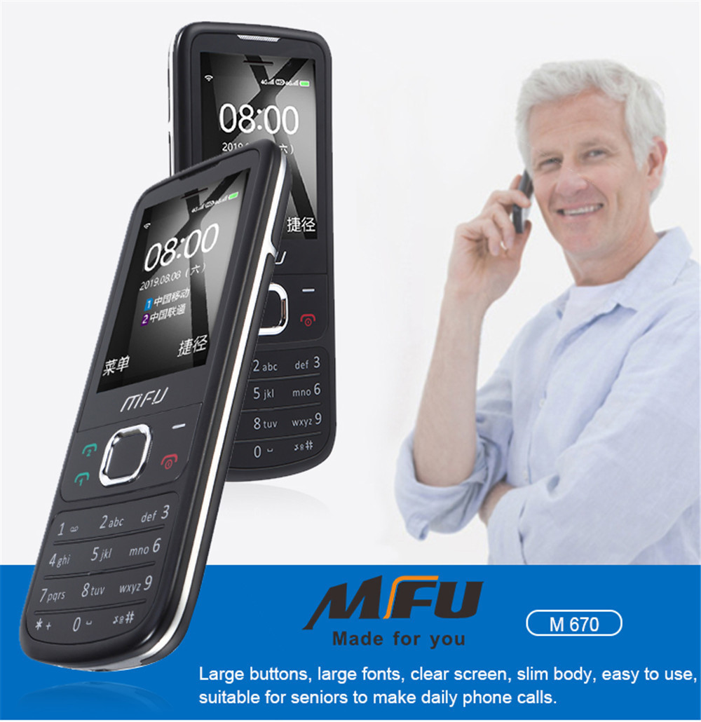 "Russian keyboard mini mobile phone 2.4"" 1000mAh Long standby Wireless FM Power Bank Dual sim Unlock GSM Cellphone M670"