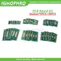 30PCS PCB Board Kit SMD Turn To DIP Adapter Converter Plate FQFP SOP8 SOP14 SOP16 SOP20 SOP28 QFP SOP 8 14 16 20 28