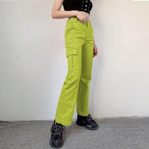Image 2 - Darlingaga Casual Solid Straight Corduroy Pants Fashion Winter Pockets Trousers High Waist Cargo Pants Women Capris Pantalones