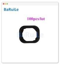 BaRuiLe 100pcs כפתור בית גומי אטם מדבקה עבור iphone 6 6S בתוספת 5S תפריט מחזיק חלקי שטח עבור iphone 7 בתוספת 7G