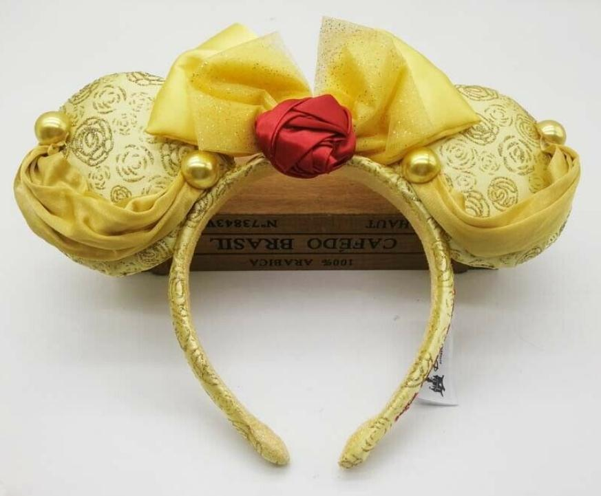 HONG KONG Park Minnie Mouse Ear Headband Belle Princess Beauty And The Beast