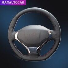 Оплетка на руль автомобиля для Peugeot 3008 2013 2015, аксессуары для интерьера, оформление автомобиля