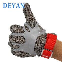 Professionele Kettingzaag Anti Cut Handschoenen 304 Roestvrij Stalen Metalen Ring Handschoenen Level 5 Snijbestendige Slachten Bescherming Handschoenen