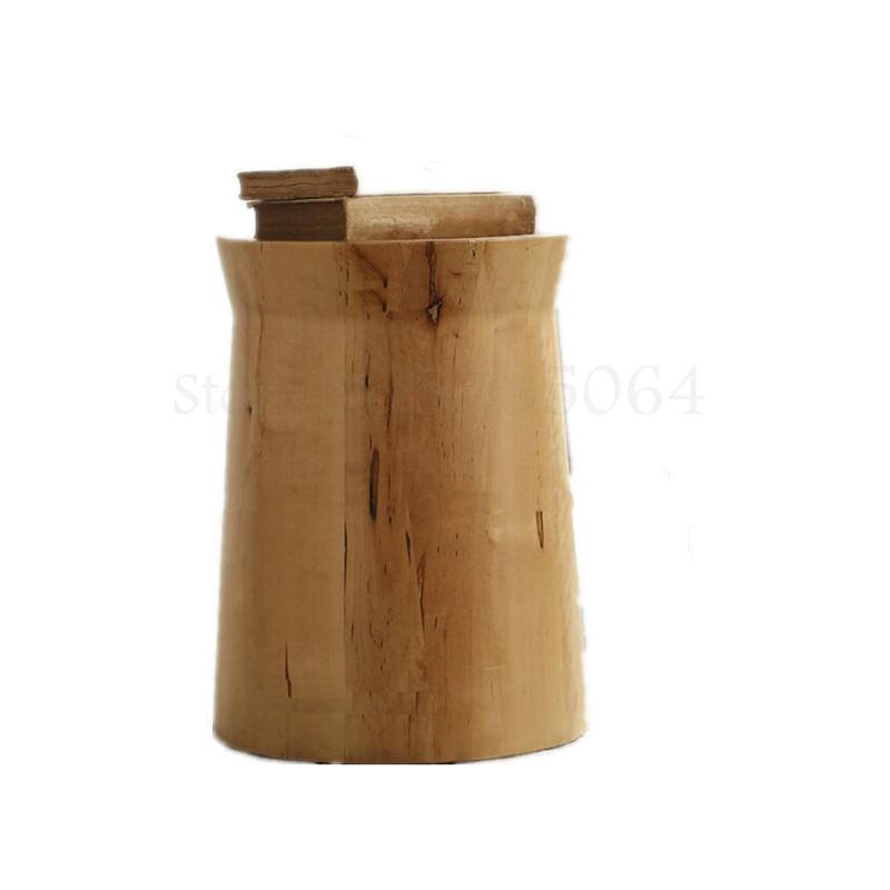Creative Chair Solid Wood Personality Side Table Bedside Table Simple Wooden Pier Small Coffee Table Wooden Pile Round Stool