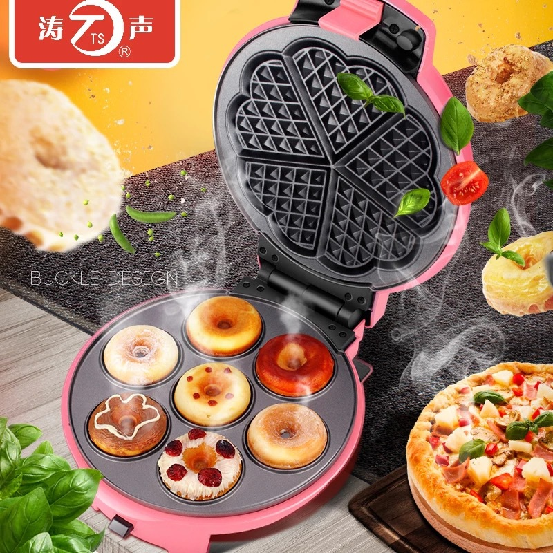1 Piece TS-19 Multi-function Electric Baking Pan Household Waffle Cake Machine Egg Roll Can Be Changed To Baking Pan